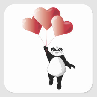 Panda and Balloons Sticker