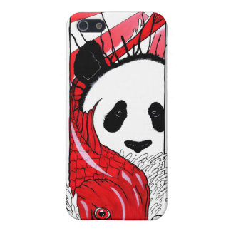Panda and Koi Fish iPhone 5 Cover