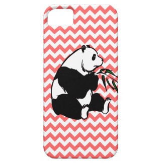 Panda and Pick Your Color Chevron iPhone 5 Cover