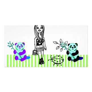 Panda Art Photocard Picture Card