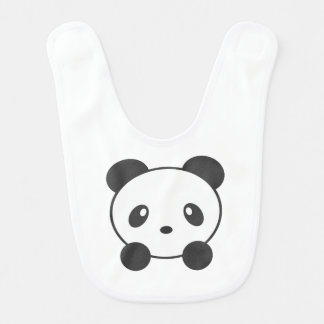 Panda baby bib