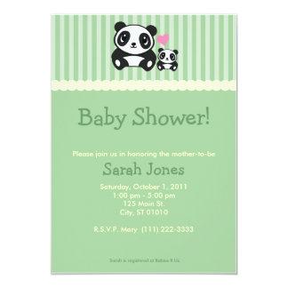 Panda Baby Shower - Green Card