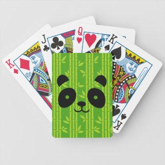 panda bamboo bicycle playing cards