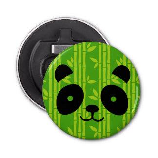 panda bamboo button bottle opener