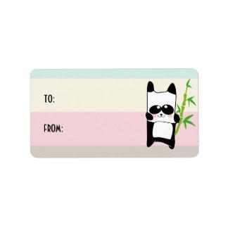 panda bamboo label