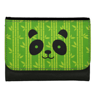 panda_bamboo leather wallet for women