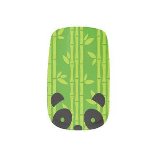 panda_bamboo minx nail art