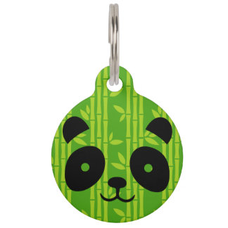 panda bamboo pet tag