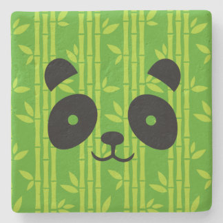 panda_bamboo stone coaster