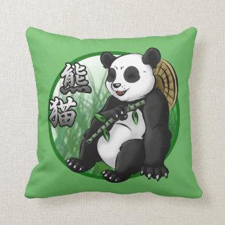 """Panda & Bamboo Throw Pillow 16"""" x 16"""""""