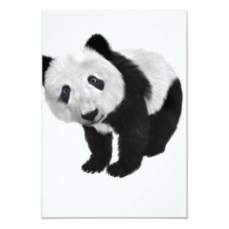 "Panda Bear 3.5"" X 5"" Invitation Card"