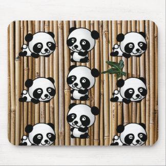 Panda Bear & Bamboo Mousepad