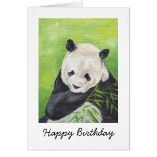 Panda Bear Birthday Card