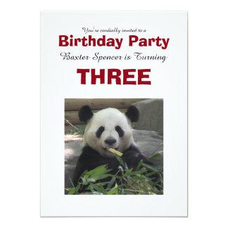 Panda Bear Birthday Party Invitation
