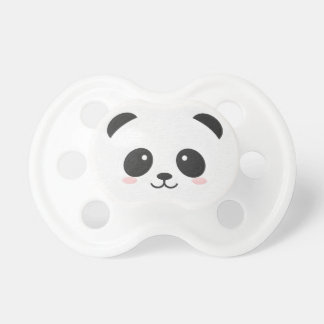 Panda Bear Black and White Binky Pacifier