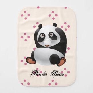 Panda Bear burp cloths