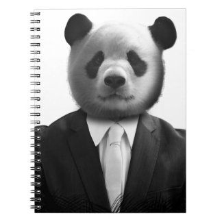 Panda Bear Business Suit Notebook