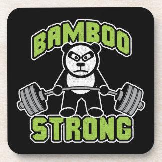 Panda Bear Cartoon - Bamboo Strong - Deadlift Coaster