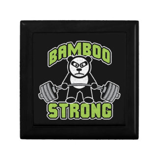 Panda Bear Cartoon - Bamboo Strong - Deadlift Gift Box