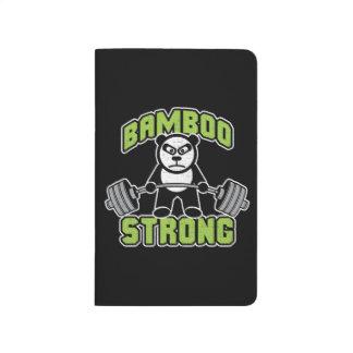 Panda Bear Cartoon - Bamboo Strong - Deadlift Journal