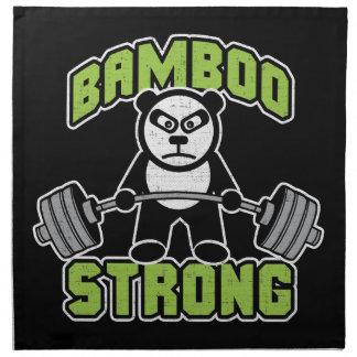 Panda Bear Cartoon - Bamboo Strong - Deadlift Napkin