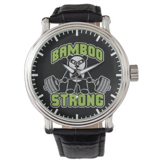 Panda Bear Cartoon - Bamboo Strong - Deadlift Watch
