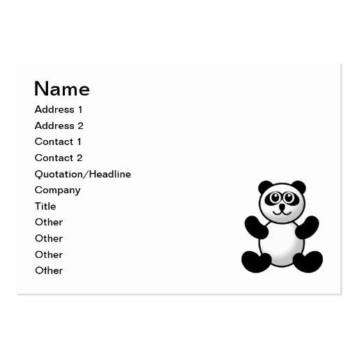 Panda bear cartoon business card templates