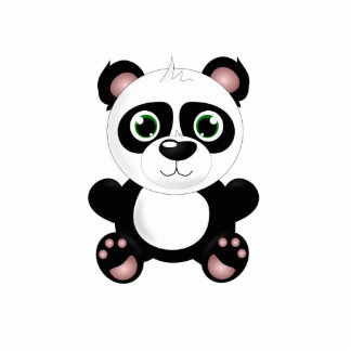Panda bear cartoon photo sculpture keychain