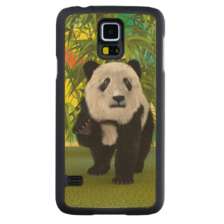 Panda Bear Carved Maple Galaxy S5 Case