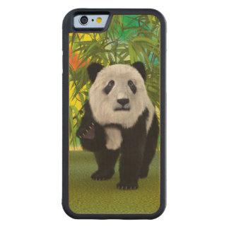 Panda Bear Carved Maple iPhone 6 Bumper Case