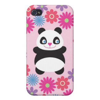 Panda Bear Character With Flowers Speck Case iPhone 4/4S Covers
