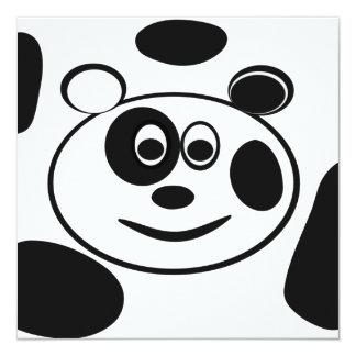 Panda Bear Childrens Birthday Party Invitations
