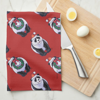 Panda Bear Christmas Kitchen Towel