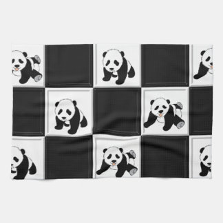 Panda Bear Design Kitchen Towel