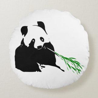 Panda Bear Design. Round Pillow