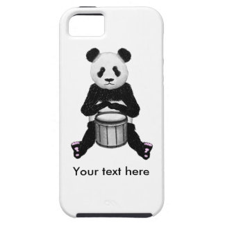 Panda Bear Drum Illustration iPhone 5 Case
