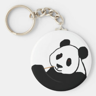 Panda bear eating key chain