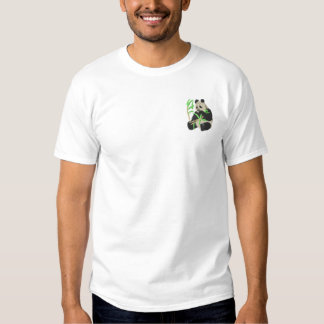Panda Bear Embroidered T-Shirt