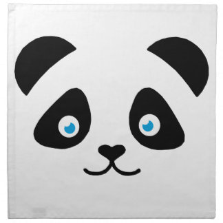panda bear face napkin