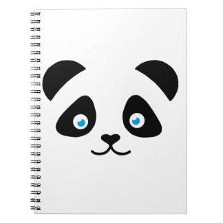 panda bear face notebook