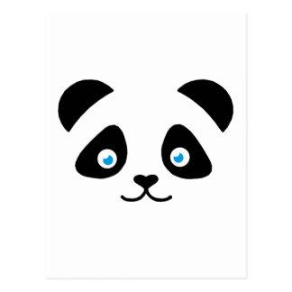 panda bear face postcard