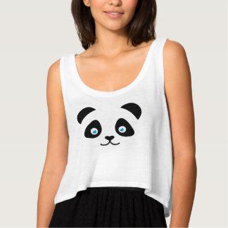 panda bear face tank top