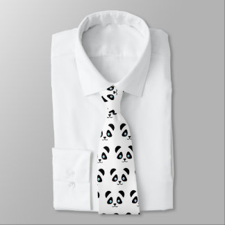 panda bear face tie