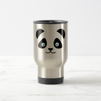 panda bear face travel mug