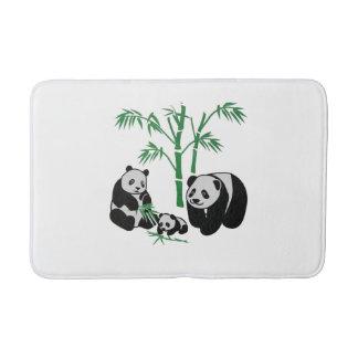 Panda Bear Family Bath Mat