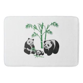 Panda Bear Family Bathroom Mat