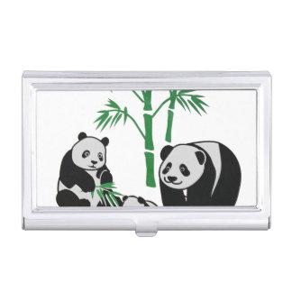 Panda Bear Family Business Card Holder