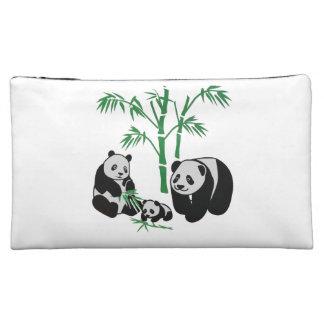 Panda Bear Family Cosmetic Bags