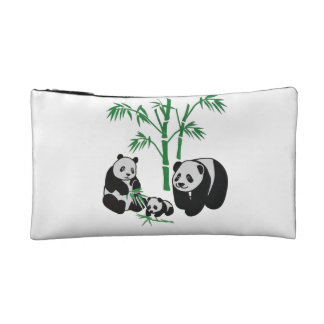 Panda Bear Family Makeup Bags