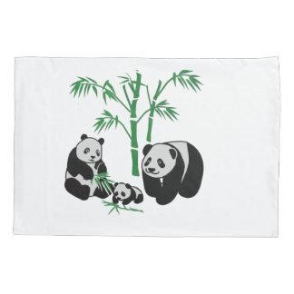 Panda Bear Family Pillowcase